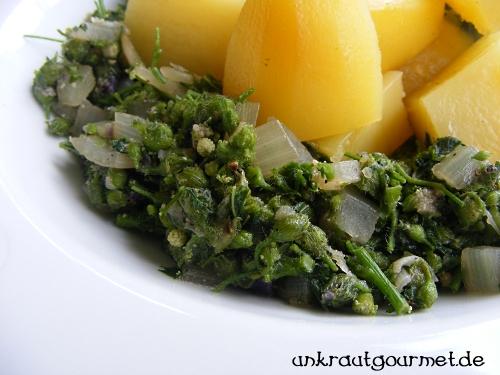 Malvengemüse als Gemüse serviert