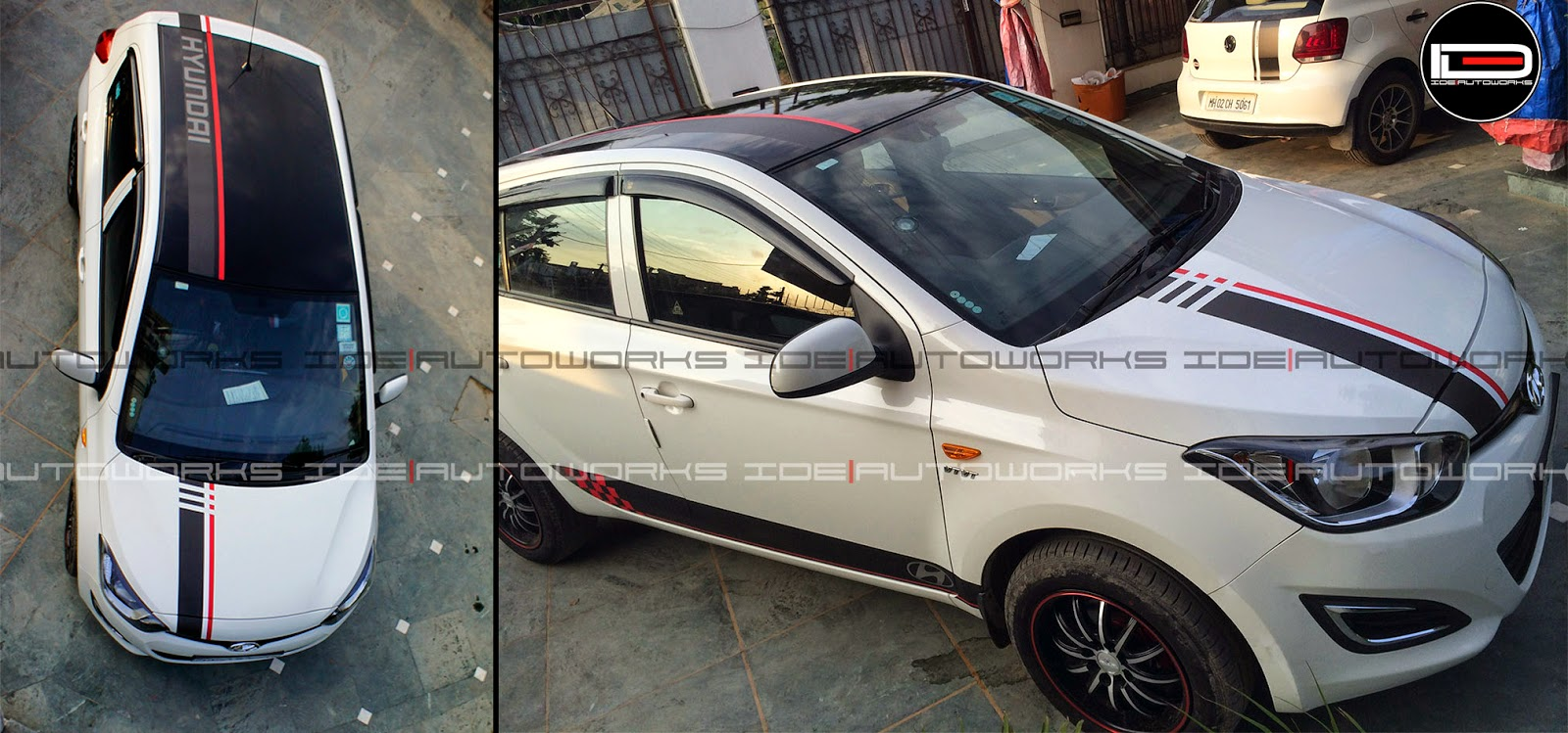 Hyundai i20 with racing stripes ideautoworks racing stripes ide autoworks pinterest racing stripes