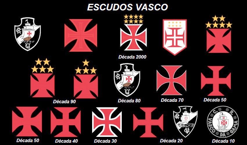 Todos os escudos do Vasco