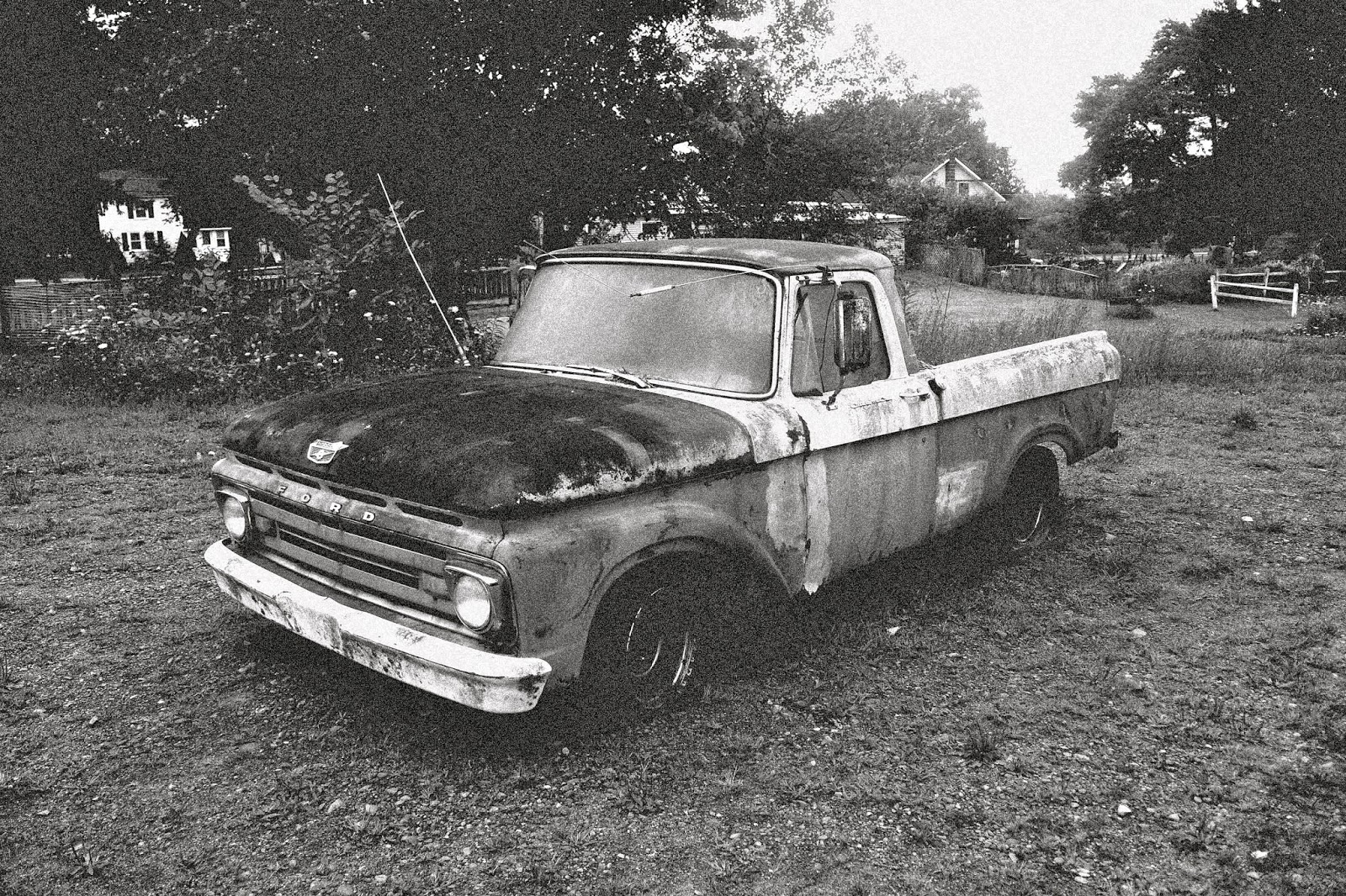 The Old Ford Pickup in B&W. | Tom The Backroads Traveller