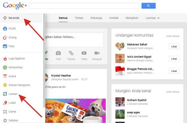 Home Beranda Situs Google Plus