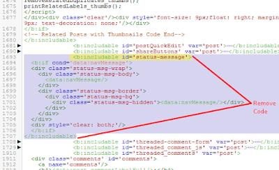 remove code