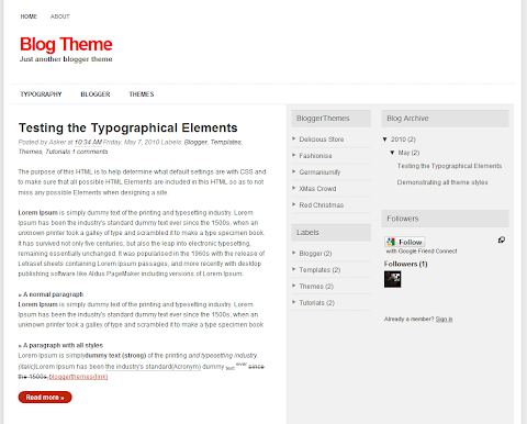 Blog Theme Blogger Theme