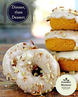 Baked Mini Pumpkin Pecan Donuts