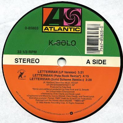 K-Solo – Letterman (VLS) (1992) (320 kbps)