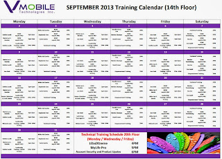 VMOBILE SEPTEMBER 2013 TRAINING