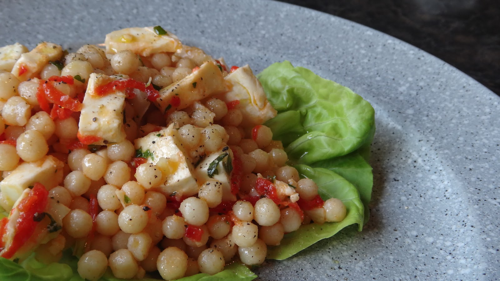 I want to cook that: Pearl Couscous and Red Pepper Salad