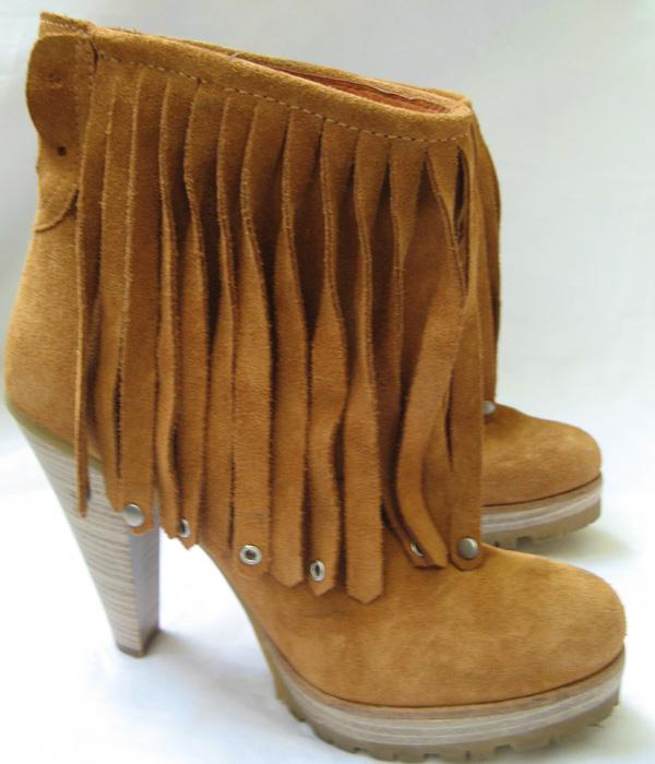 closet zara suede fringe boots size 7