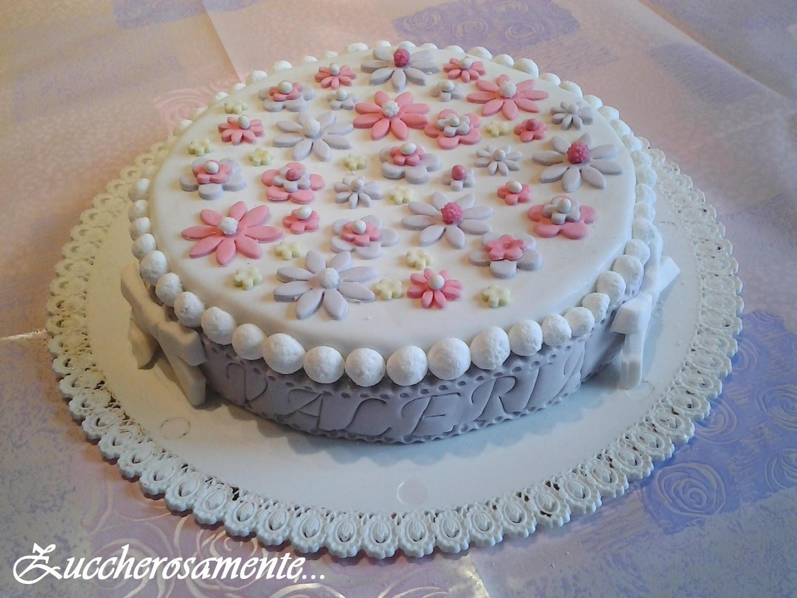 Exceptionnel Zuccherosamente: Torta fiori pastello in pasta di zucchero SM49