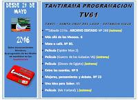 Tantirama Programación TV desde el 21/05/2016