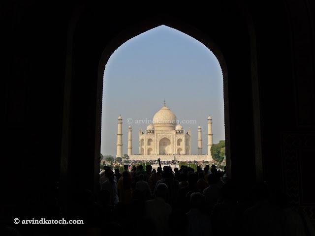 Taj Mahal, First View, Agra, India