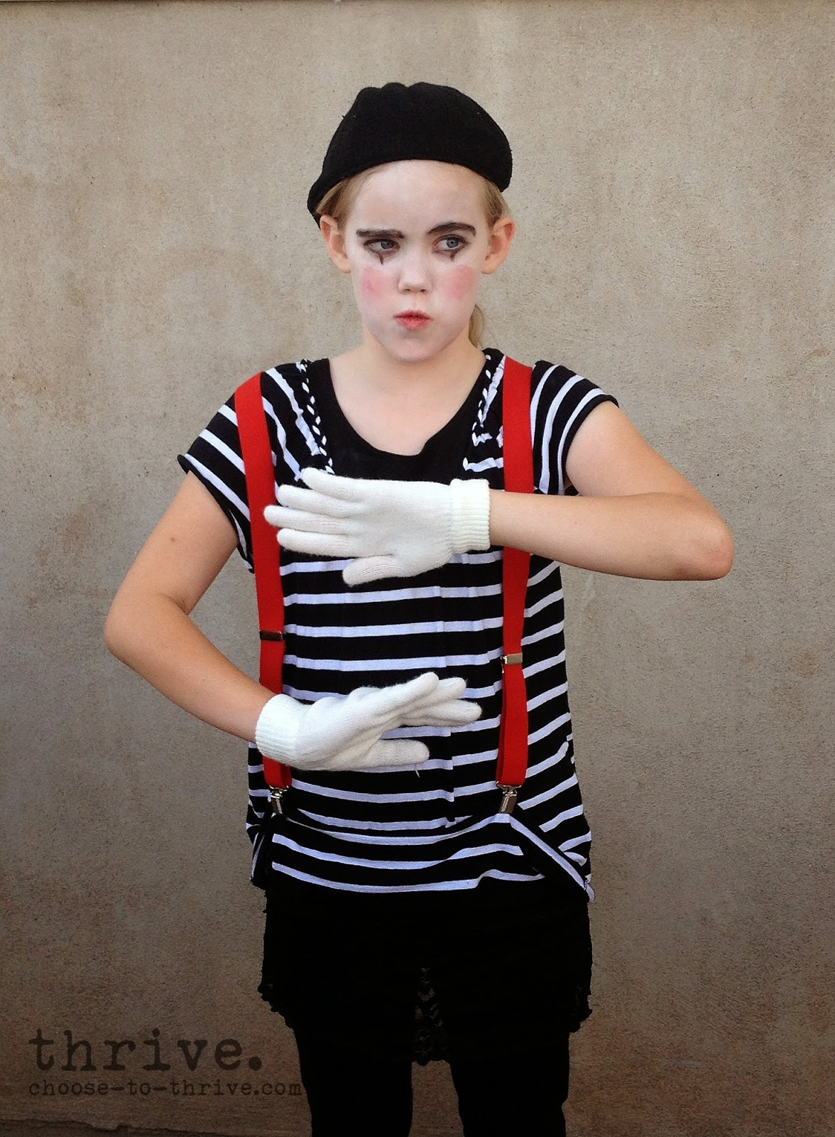 thrive 100 simple halloween costumes that you probably have in your closet - Mime For Halloween