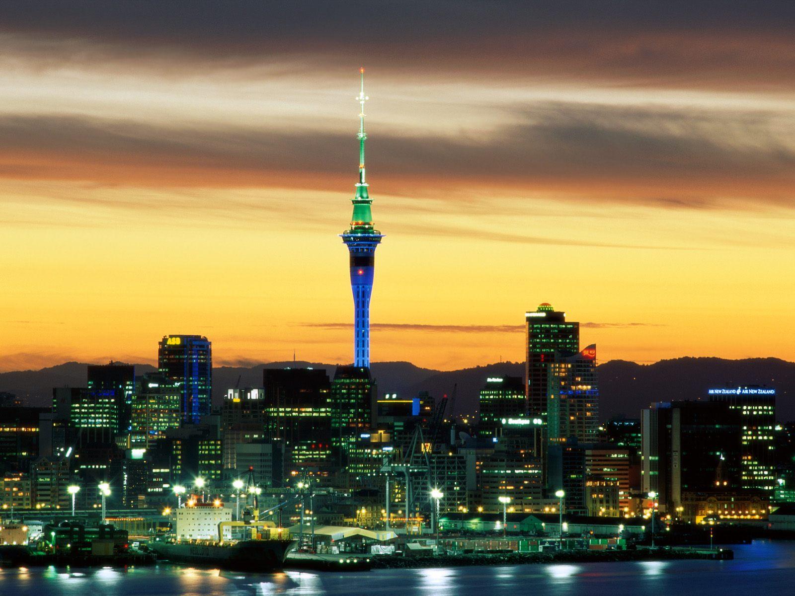 Auckland beautiful metropolitan area city
