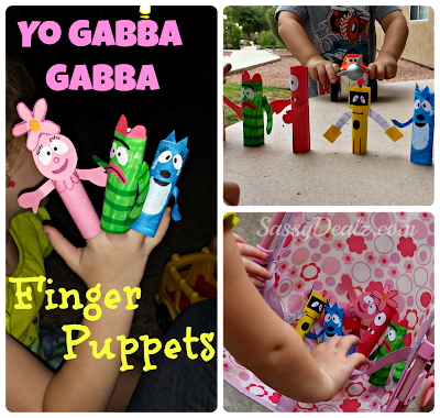 yo gabba gabba kids craft finger puppets