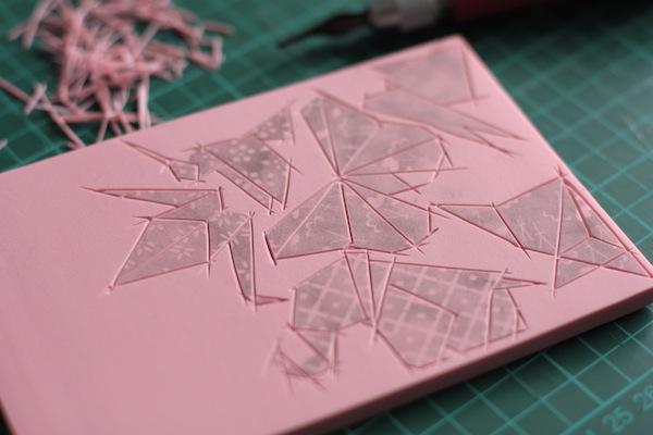 Ro Guaraz · bolsa origami · 04 · tallar contornos