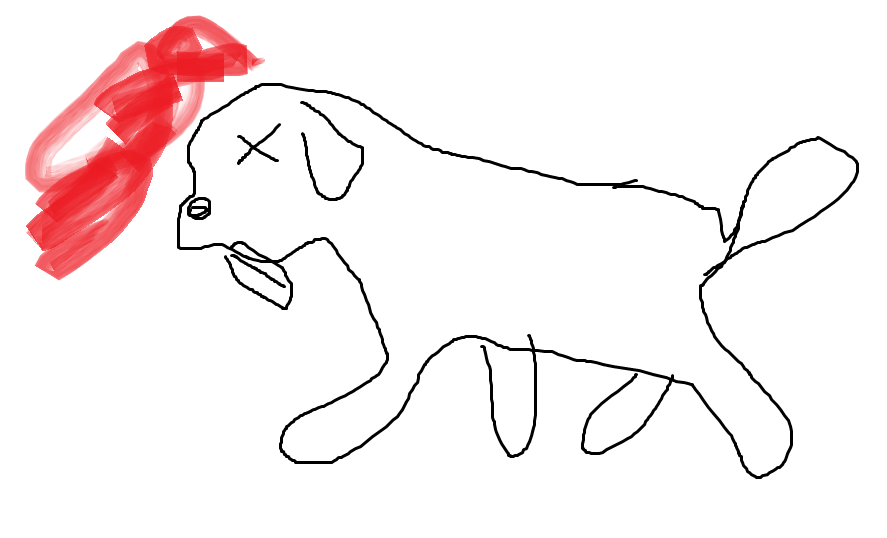 niña monstruo: perro muerto ó perro muerto