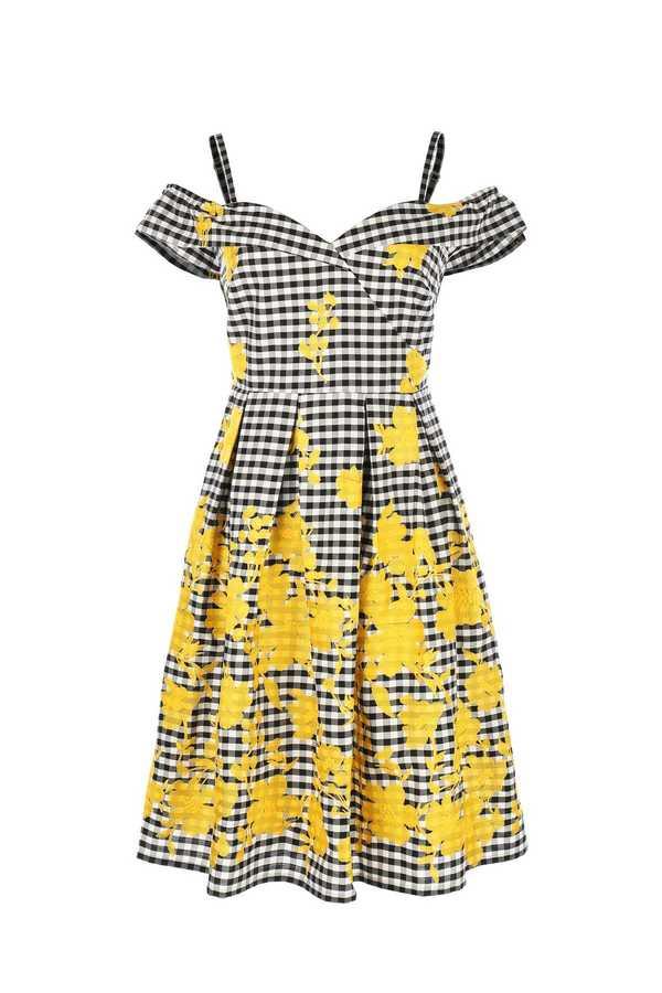Σουπερ !  Καρο girly φορεμα βαμβακερο με κεντημα / New Collection !