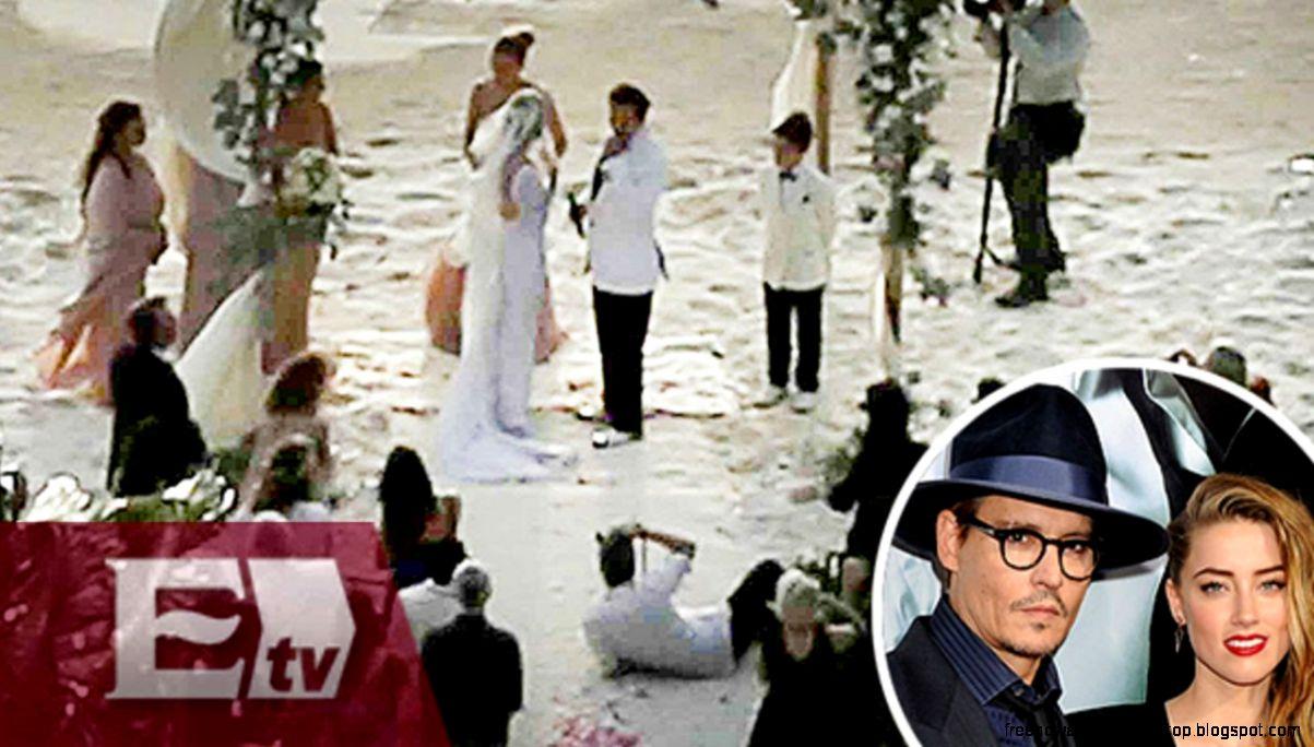 Publican imágenes de la boda de Johnny Depp y Amber Heard  Joanna
