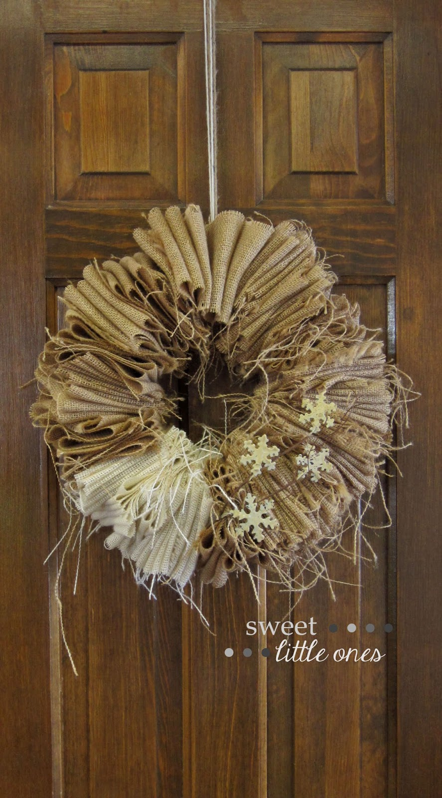 DIY Burlap Wreath - My Favorite Space: My Craft Room - www.sweetlittleonesblog.com