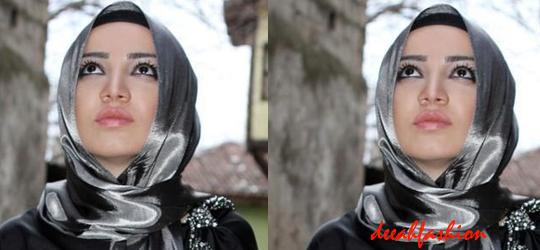 Jilbab Untuk Menghadiri Pesta Metalic Chic