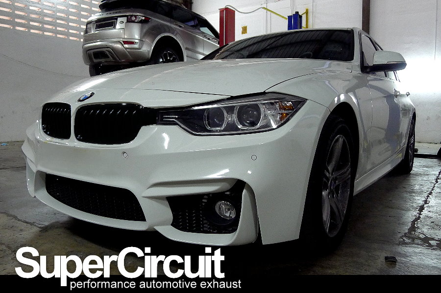 supercircuit exhaust pro shop: quad exhaust conversion of bmw 320i f30