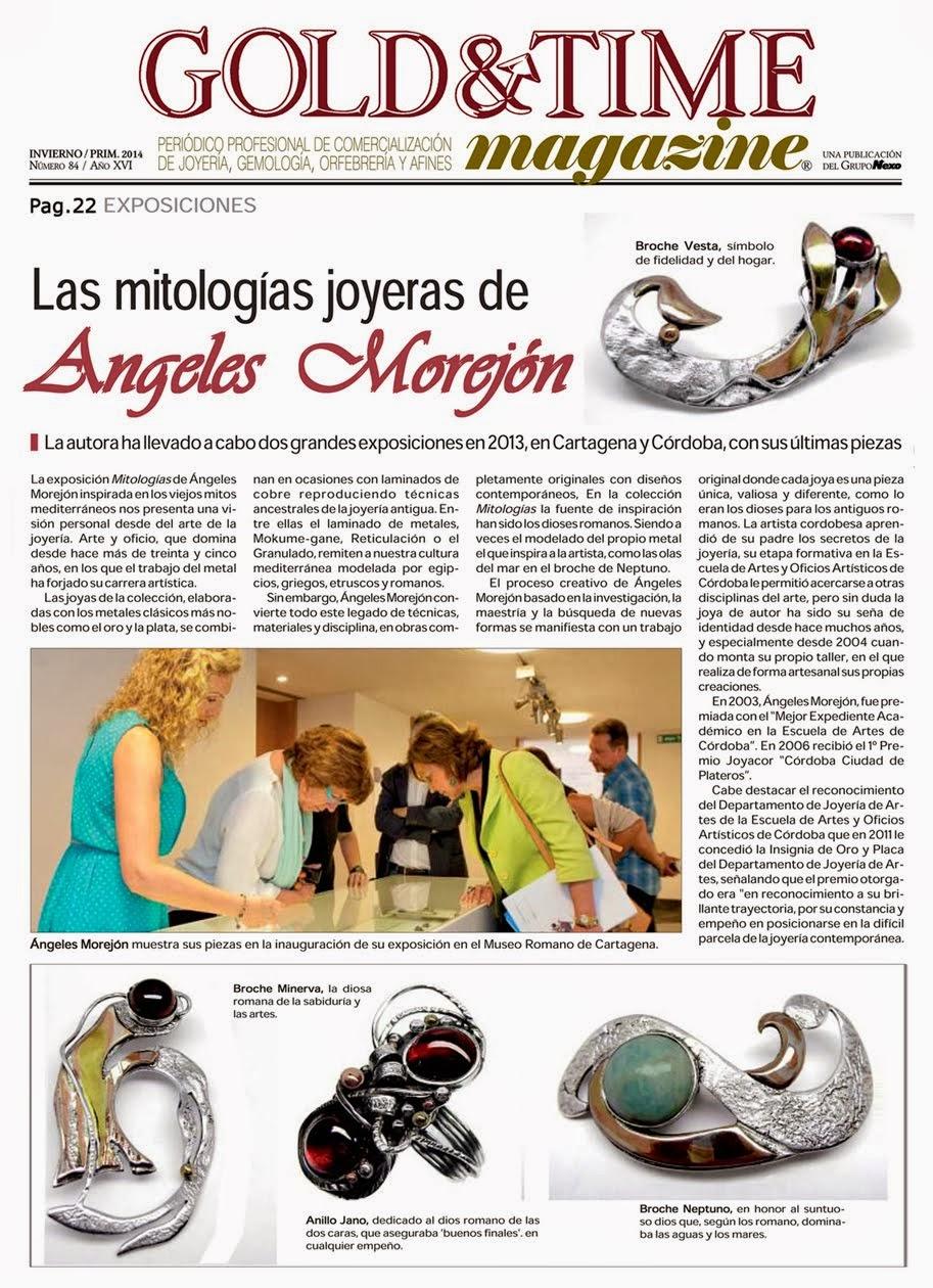 """Publicación en el Magazine de invierno 2014 """"Gold&Time"""" del Grupo Nexo."""