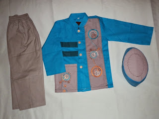 Baju muslim anak laki-laki 3-4 tahun