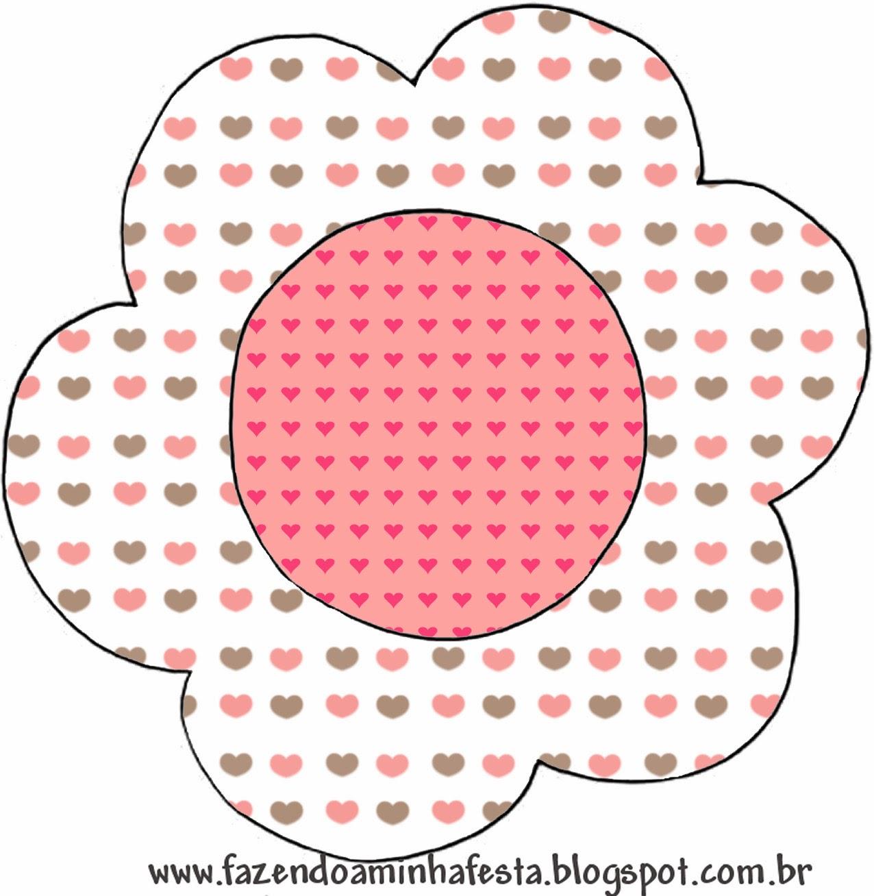 Tarjeta con forma de Flor.