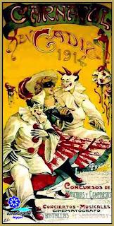 Cartel del Carnaval de Cádiz de 1914