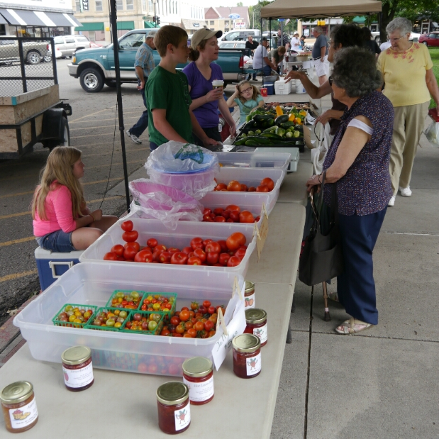Clay Center farmers' market