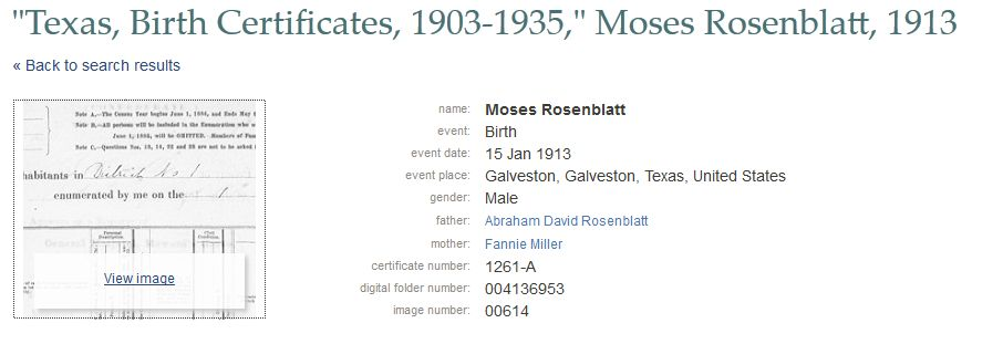 The Knowles Collection: Texas, Birth Certificates, 1903-1935