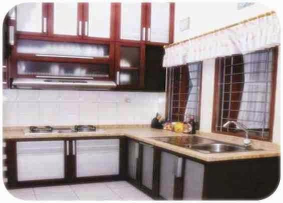 interior dapur rumah mewah minimalis