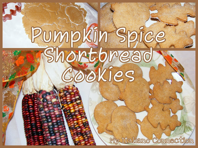 Pumpkin Spice Shortbread Cookies