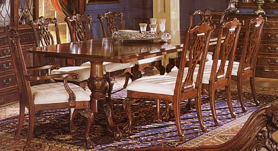 OldFashioned Dining Room Table and Chairs