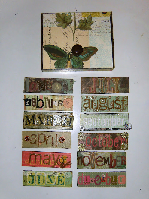 Altered Cigar box for month storage