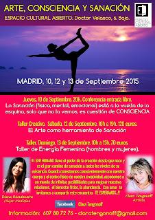 Taller Arte, Consciencia Madrid, Septiembre 2015, Espacio Cultural-Abierto