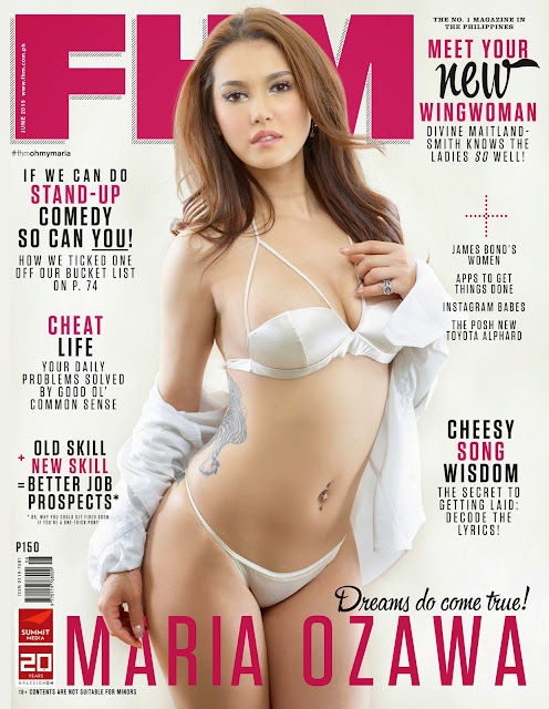 FHM Philippines Maria Ozawa June 2015 cover issue official image
