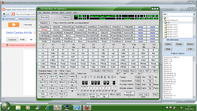 Software main band pakai pc One Man Band - Main Organ Tunggal di