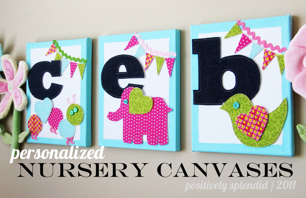 Whimsical Nursery Wall Hangings | Positively Splendid {Crafts ...