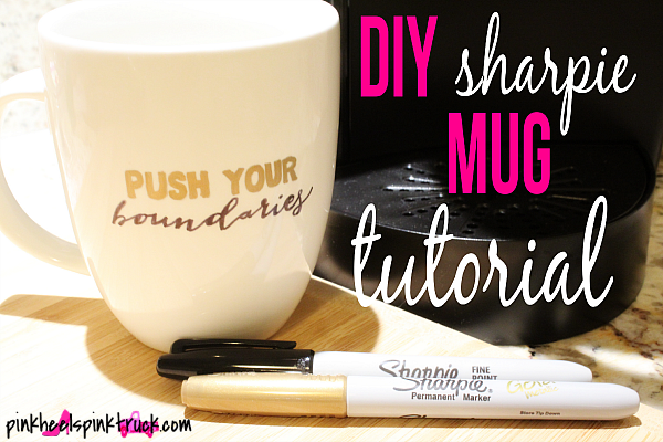 Featured Pink Heels Pink Truck shared her Diy sharpie mug Tutorial at One More Time Events.com