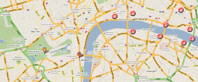 Mapa ruta por Londres dia 3