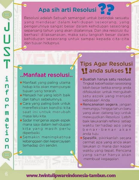 Just Information : Apa sih arti Resolusi | Manfaat Resolusi | Tips Agar Resolusi Anda Sukses