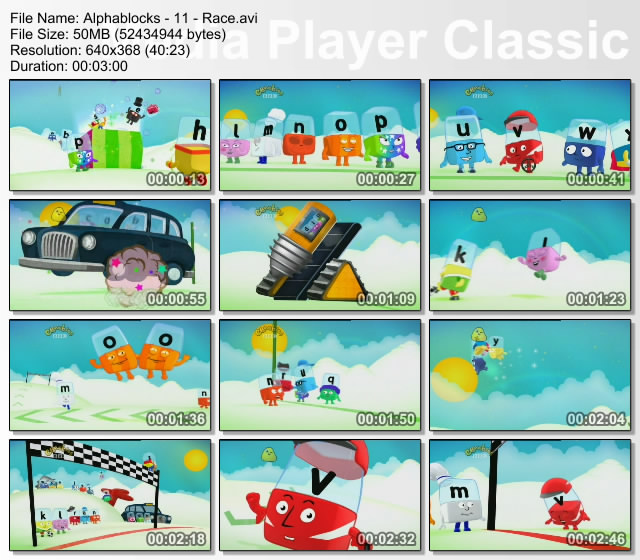 Brainy Baby Alphablocks Educational Video Collection For