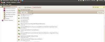 Java ubuntu software center