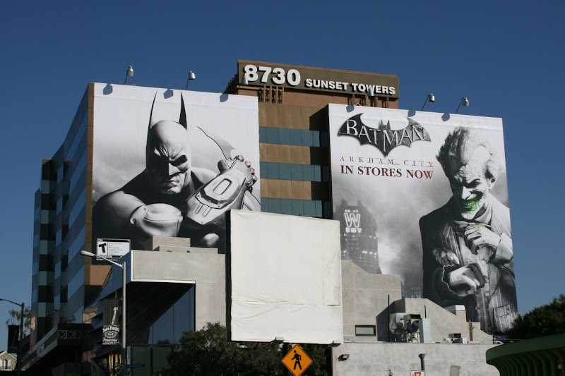 Giant Batman Arkham City billboards