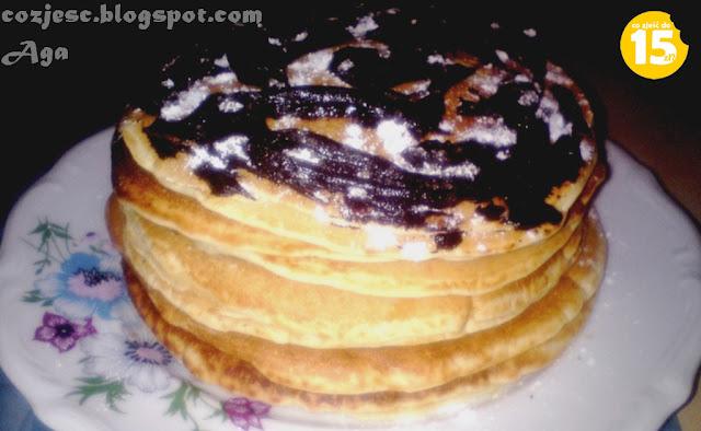 Pancakes z czekolada i konfiturą, pankejki z czekoladą i dżemem