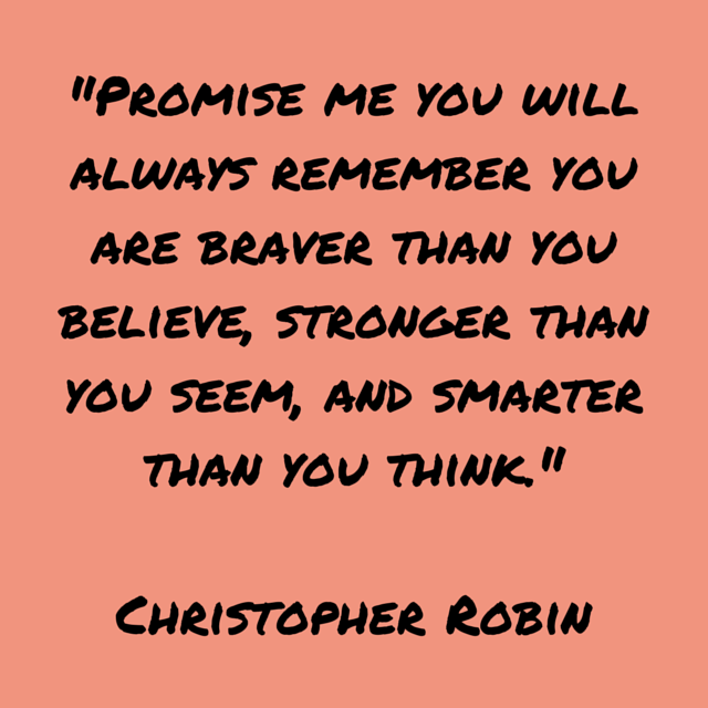 Quote, Party Favors, Weekend Links, Christopher Robin