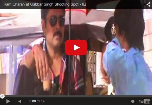 Ram Charan at Gabbar Singh Shooting