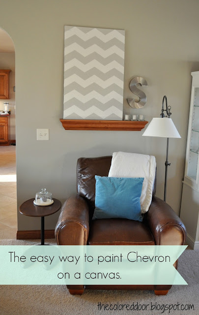 Easy Chevron Painting- The Colored Door