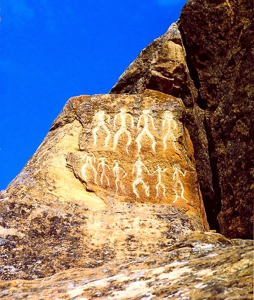 Petroglyphs in Gobustan, dating back to 10,000 BC